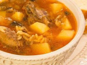 Суп с уткой, рисом и грибами - 7