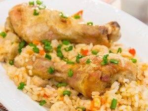 Куриная голень, запеченная с рисом и овощами - 6