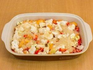 Куриная голень, запеченная с рисом и овощами - 1