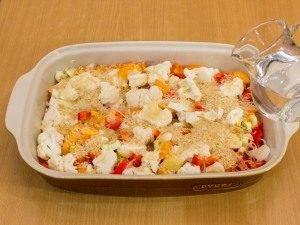 Куриная голень, запеченная с рисом и овощами - 2