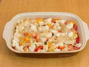 Куриная голень, запеченная с рисом и овощами - 3