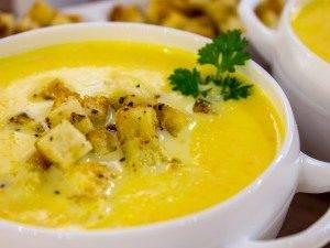 Тыквенный суп-пюре с ароматными сухариками - 7