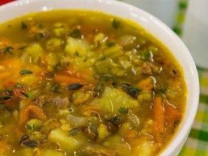 Суп с говядиной и машем - 10