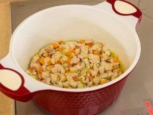 Суп с овощами, макаронами и куриным филе - 2