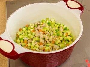 Суп с овощами, макаронами и куриным филе - 3