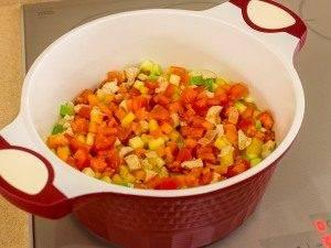 Суп с овощами, макаронами и куриным филе - 4