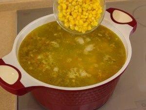 Суп с кукурузой, рисом и курицей - 6