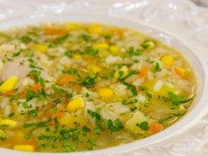 Суп с кукурузой, рисом и курицей - 7