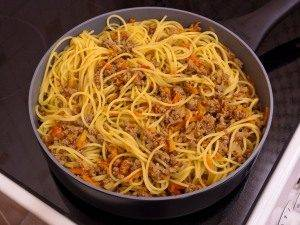 Спагетти в мясном фарше - 3