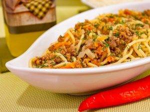 Спагетти в мясном фарше - 4