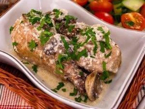 Курица, тушенная с грибами и сметаной - 5
