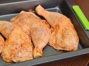 Куриные окорочка с картошкой в духовке - 0
