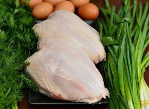 Куриная закуска с зеленью и яйцами - 0