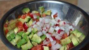 Овощной салат с авокадо - 0