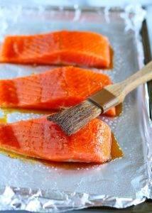 Запеченный лосось в соевом соусе с медом - 0