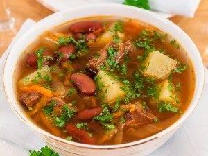 Суп с фасолью и квашеной капустой - 9