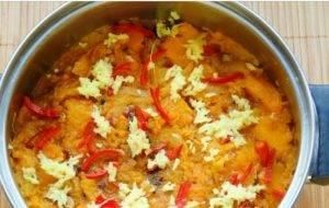Суп из печеной тыквы по-азиатски - 1
