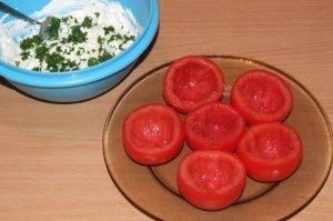 Фаршированные помидоры сыром Рикотта - 1