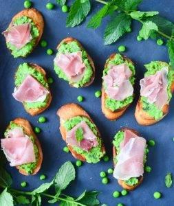 Бутерброды с ветчиной и зеленым горошком - 1