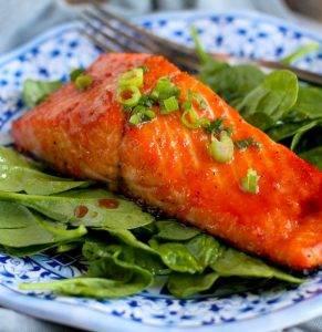Запеченный лосось в соевом соусе с медом - 1