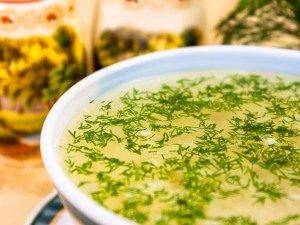 Куриный суп с яичными хлопьями - 5
