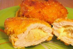 «Кармашки» из свинины с ананасами - 8