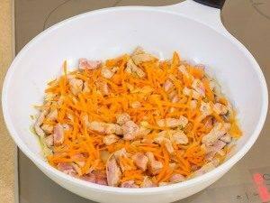 Свинина, тушенная с овощами и грибами - 4