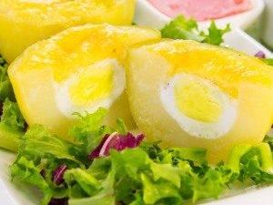 Картофель, запеченный с перепелиными яйцами - 7
