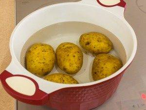 Картофель, запеченный с перепелиными яйцами - 0