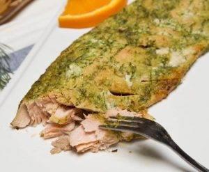 Запеченная горбуша с зеленью и сыром - 3
