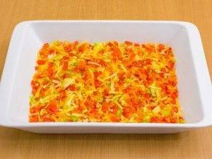 Запеканка с рисом, куриным филе, кукурузой и овощами - 1