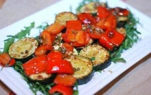 Жареные овощи с рукколой на гарнир - 4