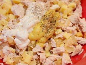 Домашние тарталетки с курицей и ананасом - 4