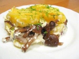 Запеканка с грибами и картофелем - 11