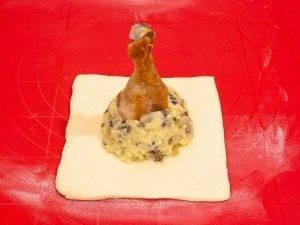 Куриные ножки с картофельно-грибной начинкой в мешочке - 8
