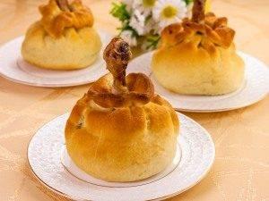 Куриные ножки с картофельно-грибной начинкой в мешочке - 12