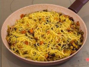 Спагетти с грибами и помидорами - 5