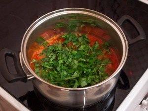 Томатный крем-суп с макаронами - 1