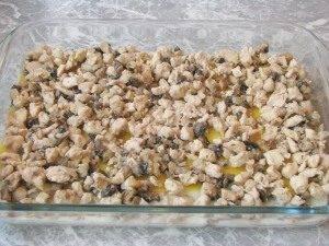 Лазанья с грибами и куриным филе - 4