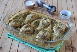 Куриные ножки с грибами в духовке - 5