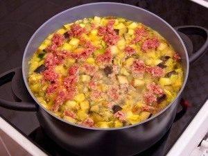 Овощной суп с фаршем - 1