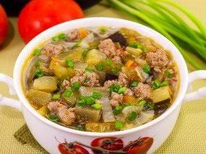 Овощной суп с фаршем - 2