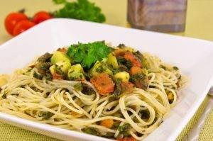 Спагетти с кабачками и шпинатом - 5
