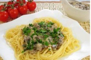 Спагетти с грибным соусом - 7