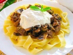 Феттучини с телятиной и грибами под сливочным соусом - 8