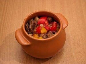 Горшочки с мясом, фасолью и грибами - 4