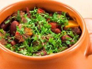 Горшочки с мясом, фасолью и грибами - 7