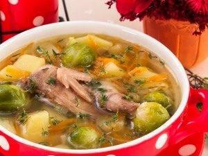 Суп с перепелами, брюссельской капустой и картофелем - 2
