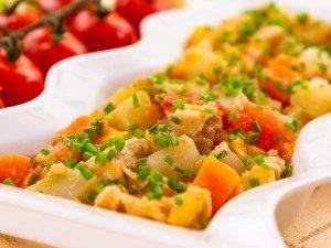 Кольраби, тушенная с куриным филе и овощами - 5