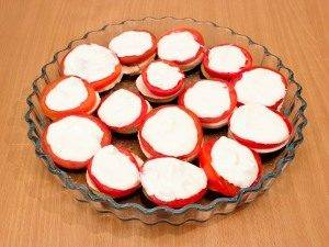 Баклажаны, запеченные с помидорами и грибами - 6